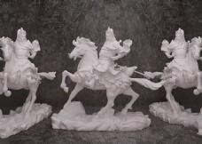 室内张飞骑马艺术品模型