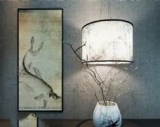 室内台灯艺术品模型