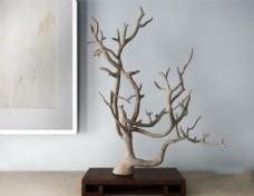 室内树枝艺术品模型