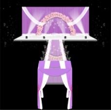 紫色梦幻婚礼舞台设计