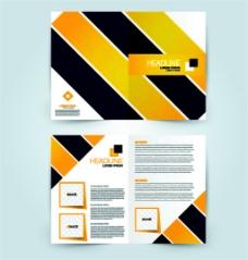 黄黑几何画册图片