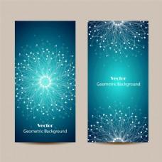 蓝色梦幻展板背景图片