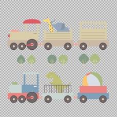 手绘卡通火车插图免抠png透明图层素材