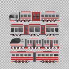 手绘扁平火车插图免抠png透明图层素材