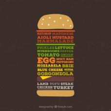 汉堡海报字体
