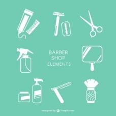 理发店的元素