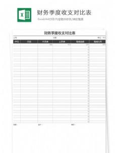 财务季度收支对比表Excel文档