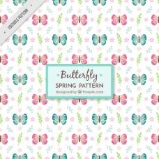 平面蝴蝶花装饰图案