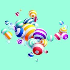 活动装饰3d球体背景矢量素材
