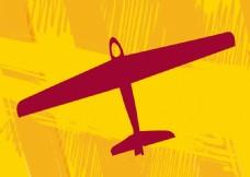 飞机 黄色背景