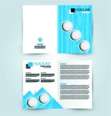 蓝色圆形几何画册图片