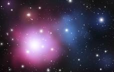 多彩闪耀粒子星空背景矢量素材