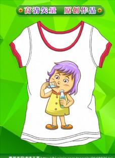 童装图案 卡通衣服 T恤