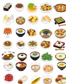 美食料理绘画图标