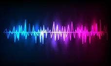 多彩渐变动感电波光效背景