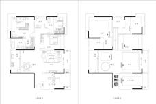 商品房平面布置图与空调分布图