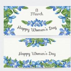 妇女节花卉横幅