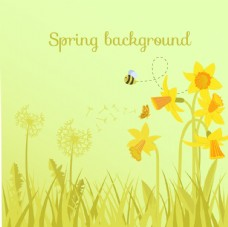 春天鲜花背景