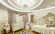 儿童房婴儿房效果图