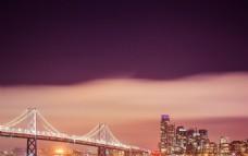 旧金山大桥繁华夜景