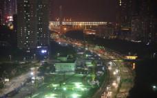 城市夜建一角