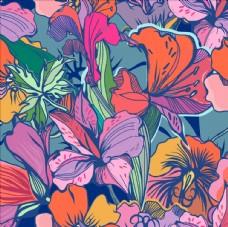 植物花朵花卉底纹矢量图下载