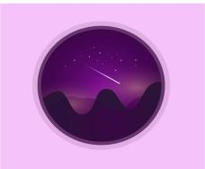 夜景图标AI模仿