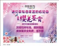 地产樱花节背景板