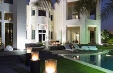 别墅花园高清图 泳池