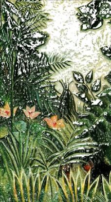 欧美森林草丛高清艺术玄关墙