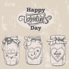 情人节爱心瓶子