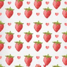 情人节草莓背景