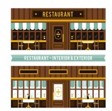 优雅的餐厅外观图