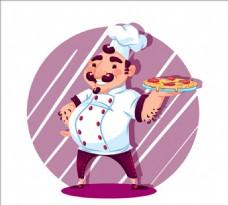 意大利披萨厨师的背景