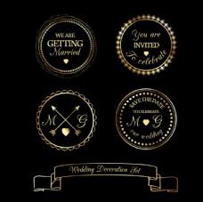 复古婚礼徽章