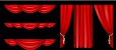 红色帷幔 幕布