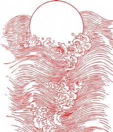 云纹波浪吉祥图案