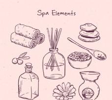 手绘spa元素