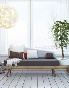 现代客厅效果图 沙发