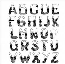 手绘英文字母设计