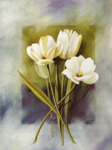 美式 花卉装饰油画