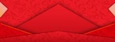 红色喜庆几何图形banner背景