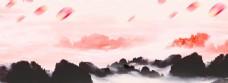 中国风水墨山水banner背景