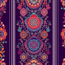 传统民族风二方连续花纹底纹