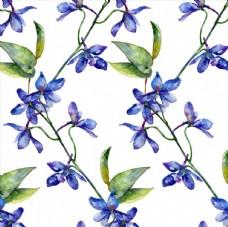 植物花卉四方连续底纹