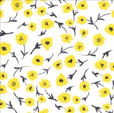 手绘植物花朵花卉四方连续底纹
