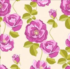 玫瑰花四方连续底纹