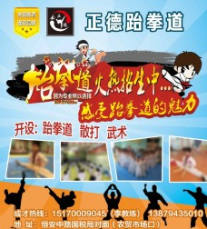 跆拳道海报宣传单