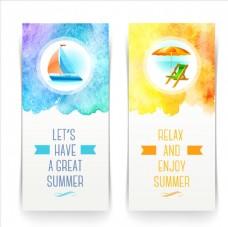 夏季清新水彩