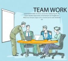 创意商务会议素材